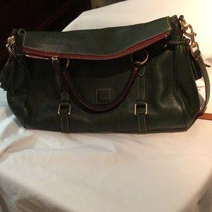 Dooney & Bourke large hunter green satchel